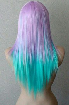 purple turquoise blue 9mbre dyed hair color