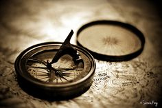 Vintage Sundial Compass On Top Of Map   Flickr - Photo Sharing!