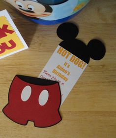 mickey mouse party  | pocket invitation for Mickey Mouse party