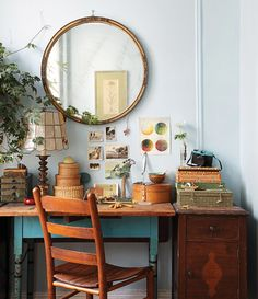 vintage çalışma masası
