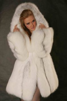 Shadow Fox fur parka - I've pinned this once before but it bears repeating
