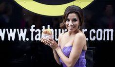 Eva Longoria loves Fatburger medium fat!