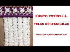 PUNTO COLA DE GATO TELAR RECTANGULAR // Tutorial completo con inicio y remate del tejido - YouTube