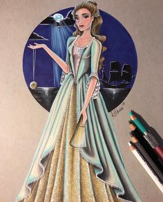 'You best start believing in ghost stories Miss Turner, you're in one!' ☠️💀☠️ Had a lot of fun working on something different from my usual princesses. Also it's almost the weekend, and that makes me happy🙃 Hope you guys like her ☺️ Disney Princess Art, Disney Art, Cute Disney, Disney Style, Elizabeth Swann, Elizabeth Turner, Fun At Work, Ghost Stories, Pirates Of The Caribbean
