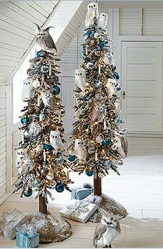 OWL Christmas trees!   Oh my!!!!!