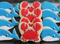Whales and Crabs BZ Bees Sweet Treats Custom Cookies NJ