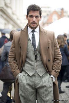three piece men's suit from SF | Men's classy | Костюм-тройка via www.fashiony.ru