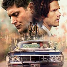 Dean and Sam Winchester (Probably one of the most amazing pieces of fan art I've ever seen)