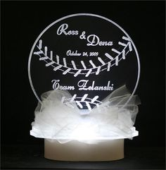 find this pin and more on cake how perfect lighted baseball cake topper