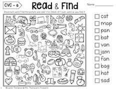 & Find - Hidden Picture Puzzles CVC Words Read & Find - Hidden Picture Puzzles CVC WordsPicture This Picture This may refer to: First Day Of School Activities, 1st Day Of School, Beginning Of The School Year, Middle School, School Games, High School, Kindergarten Reading, Reading Activities, Kindergarten Language Arts
