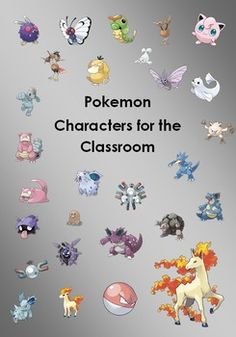 These are the Pokmon Characters that you can edit how you like around your room or use for resources. Have Fun