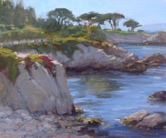 Summer Evening In Pacific Grove by Kathleen Dunphy Oil ~ 10 x 12