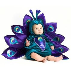 Here is one of the most adorable baby Halloween costumes that I have come across, the Baby Peacock Infant/Toddler Halloween Costume Baby Infant Toddler Peacock Halloween Costume. The costume is available in sizes 6M to 2T and made in beautiful blues and purples, comes with the bodysuit and hood.