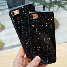 Fashion Cute Black Bling Star Glitter Soft Gel Case Cover for iPhone 6/6S/7 Plus  | eBay