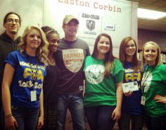 Easton Corbin + Tennessee FFA members + #YearOfTheFarmer = Awesome private concert today in Hendersonville, TN!
