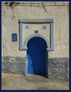 blue door on the hill. Sidi Ifni, Morocco | by mhobl