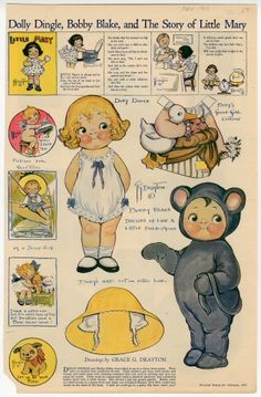 76.2947: Dolly Dingle, Bobby Blake, and the Story of Little Mary | paper doll | Paper Dolls | Dolls | National Museum of Play Online Collections | The Strong