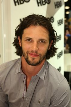 TRUE BLOOD star Nathan Parsons at the Warner Bros. booth at Comic-Con 2014. #WBSDCC