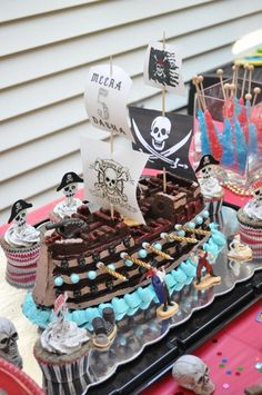 Cake at a Pirate party #pirate #partycake