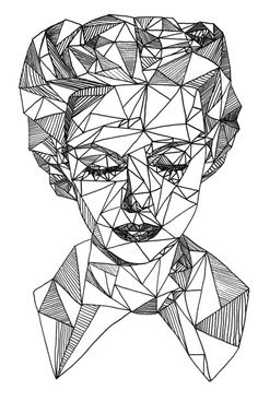 Bloque ii doodles n design art, geometric drawing, geometric art. Geometric Face, Geometric Drawing, Geometric Shapes, Escher Kunst, Art Sketches, Art Drawings, Pen Art, Line Drawing, Drawing Art
