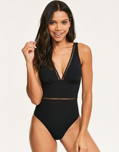 ab58654629a Buy Figleaves Icon Milan Plunge Ladder Shaping Swimsuit at Figleaves