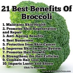 21 Best Benefits Of Broccoli For Skin, Hair And Health Follow us @ http://pinterest.com/stylecraze/health-and-wellness/ for more updates.