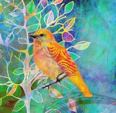 "Just gorgeous! ""Treetops"" 5 x 5 inch handmade notecard sunset by RobinMeadDesigns on Etsy, $5.00"