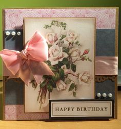 Crafter's companion issue 9 floral birthday card Birthday Cards, Happy Birthday, Crafters Companion, I Card, Frame, Floral, Decor, Bday Cards, Happy Brithday