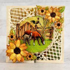 Heartfelt Creations - Life is Better on the Farm Create An Animal, Foam Sheets, Card Making Tutorials, Heartfelt Creations, Flower Shape, Paper Decorations, Card Sizes, Cardmaking