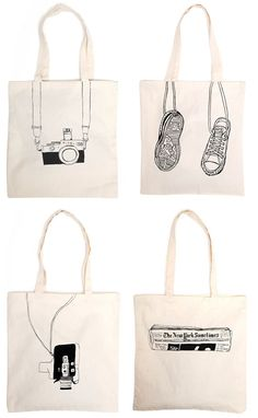 Tote bags from 'One and the same'