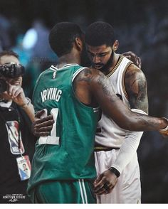 regram @swishfactor Whats Boston Kyrie telling Cleveland Kyrie? #CaptionThis - Via @hometown_designs http://ift.tt/2zI1nxj