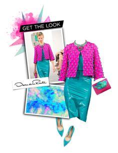 """""""Get The Look: Oscar de la Renta"""" by r-maggie ❤ liked on Polyvore featuring Krystal, Gianvito Rossi, Oscar de la Renta and Paige Denim"""