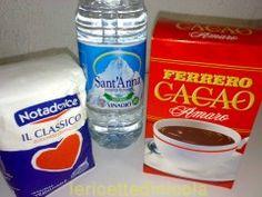 granita-cioccolato500 gr. acqua oligominerale 200 gr. zucchero 50 gr. cioccolato in polvere (amaro)