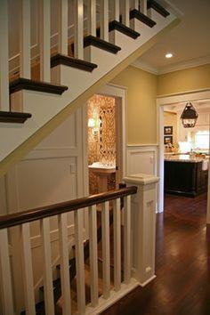 ideas open basement stairs in kitchen staircases for 2019 Open Basement Stairs, Stairs In Kitchen, Basement Steps, Basement Entrance, Open Stairs, House Entrance, Entryway Stairs, Attic Stairs, Basement Flooring