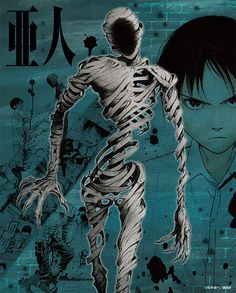 Canvas art featuring the original illustrations from Ajin: Demi-Human! From Ajin: Demi-Human comes a canvas art print featuring illustrations from the original manga. The world of Ajin has been put together on a high quality canvas for fans to. Ajin Manga, Ajin Anime, L Anime, Anime Guys, Anime Art, Character Art, Character Design, Demi Human, Takeru Sato