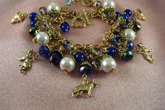 GERMAN SHEPHERD Dog brm8  Charm Bracelet  Jade   by HOBBYHORSELADY, $49.90