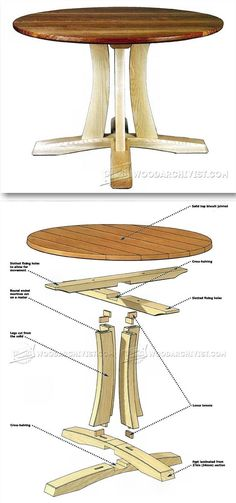 Round Pedestal Table Plans - Furniture Plans and Projects | http://WoodArchivist.com