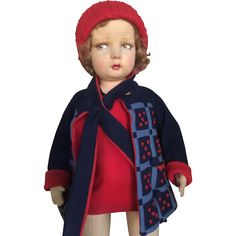 All original perfect 109 lenci Doll with wonderful Deco outfit from antiquedolls6395 on Ruby Lane