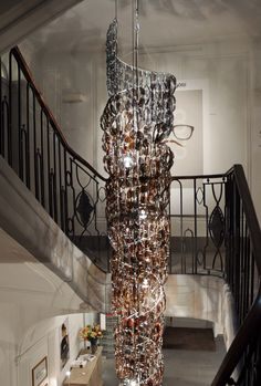 Chandelier with 541 pairs of Götti sunglasses