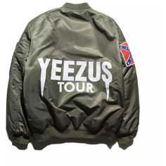 Freelee Men's Kanye West Yeezus Tour Ma1 Flight Bomber Ma-1 Jacket (£34) ❤ liked on Polyvore featuring men's fashion, men's clothing, men's outerwear and men's jackets