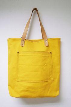 e1705dab4a Leathinity++Yellow+Canvas+Tote+Bag+w +Genuine+