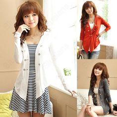 Discount China china wholesale Fashion Lady V Collar Slim Six Button Long Sleeve Leisure Long Coat Jacket [31333] - US$16.86 : DealsChic