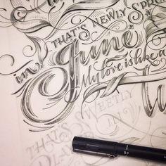 Beautiful hand lettered script font