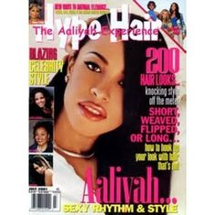 on the cover of July 2001 Black Hair Magazine, Aaliyah, Hair Looks, Handsome, Cover, Instagram Posts, Movie Posters, Film Poster, Hairdos