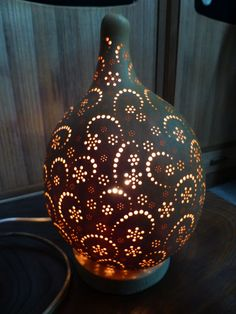 Items similar to Japanese Lamp Shade made from Gourd (hyotan) on Etsy