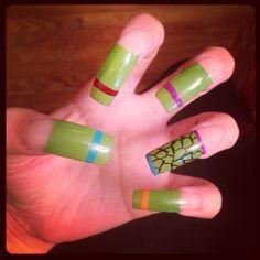 Teenage Mutant Ninja Turtles Nails #Nails #TMNT