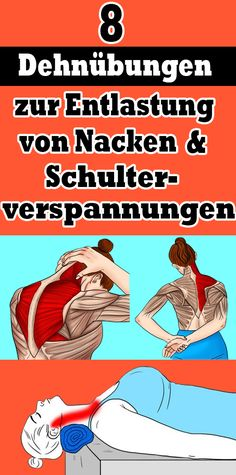 8 stretching exercises to relieve neck and shoulder tension - Gesundheit und fitness - yoga Fitness Workouts, Yoga Fitness, Sport Fitness, Bikini Fitness, Fitness Diet, Fun Workouts, At Home Workouts, Health Fitness, Enjoy Fitness