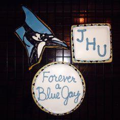 John Hopkins Blue Jays Cookies! www.facebook.com/cookiesbycarly Johns Hopkins, Sugar Cookies, Cakes, Facebook, Blue, Cake Makers, Kuchen, Cake, Pastries