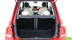 Le volume du coffre de la 500 est modeste : 185 litres.