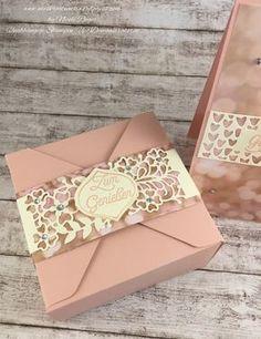 Stampin' Up! - Box mit Stanz- und Falzbrett für Geschenkboxen und mit DSP zum Verlieben und Thinlits Liebe zum Detail